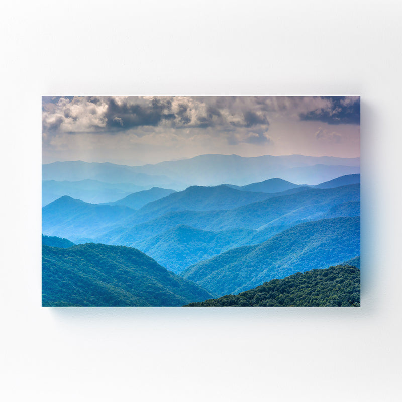 North Carolina Blue Mountains Canvas Art Print