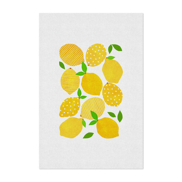 Cute Lemon Kitchen Fruit Food Art Print