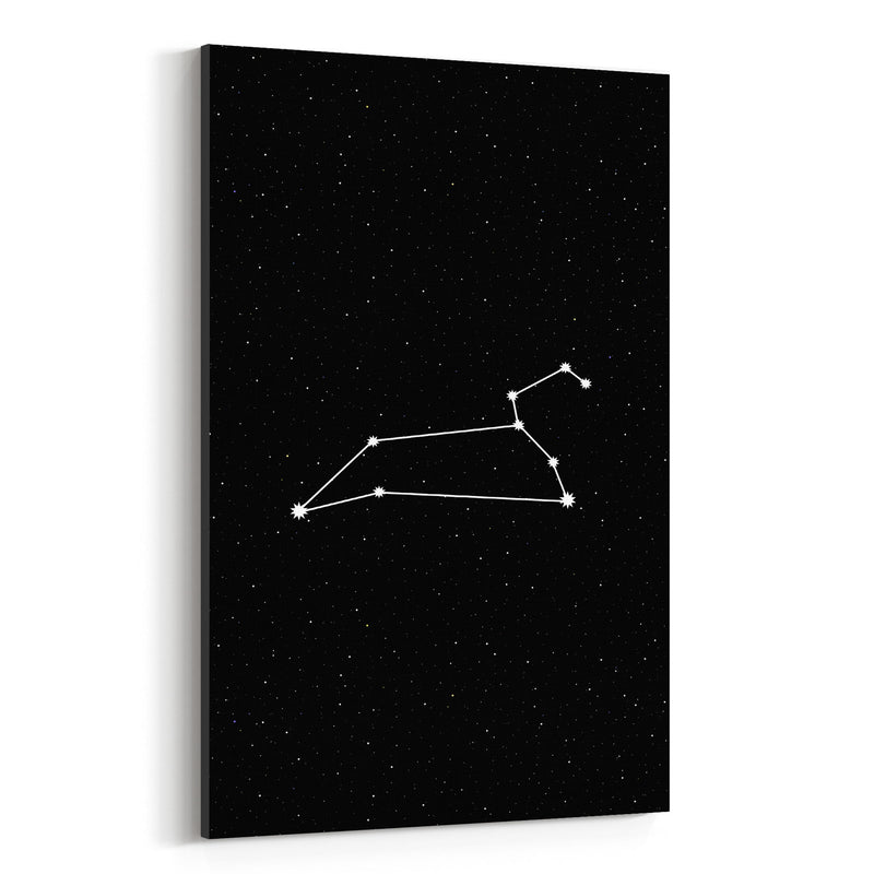 Night Sky Leo Astrology Zodiac Canvas Art Print