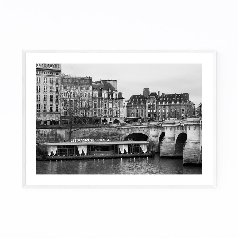 Seine Pont Neuf Paris France Framed Art Print