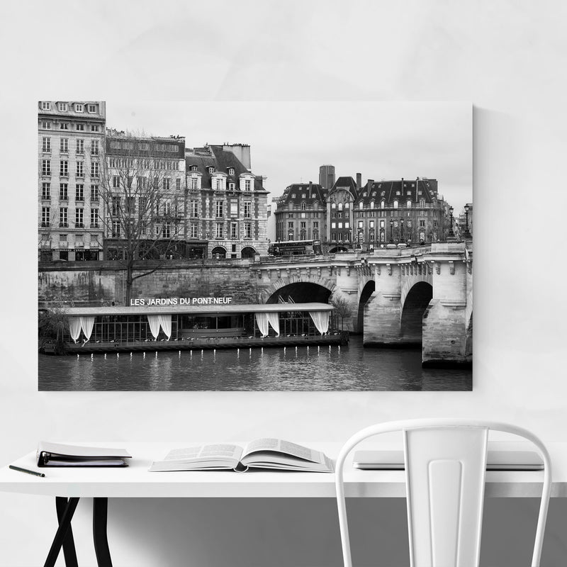 Seine Pont Neuf Paris France Canvas Art Print