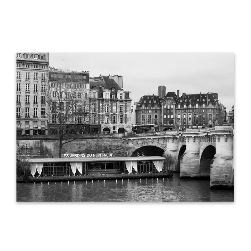 Seine Pont Neuf Paris France Metal Art Print