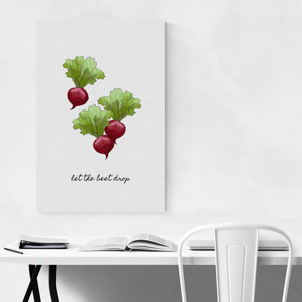 Cute Kitchen Beet Food Cooking Art Print