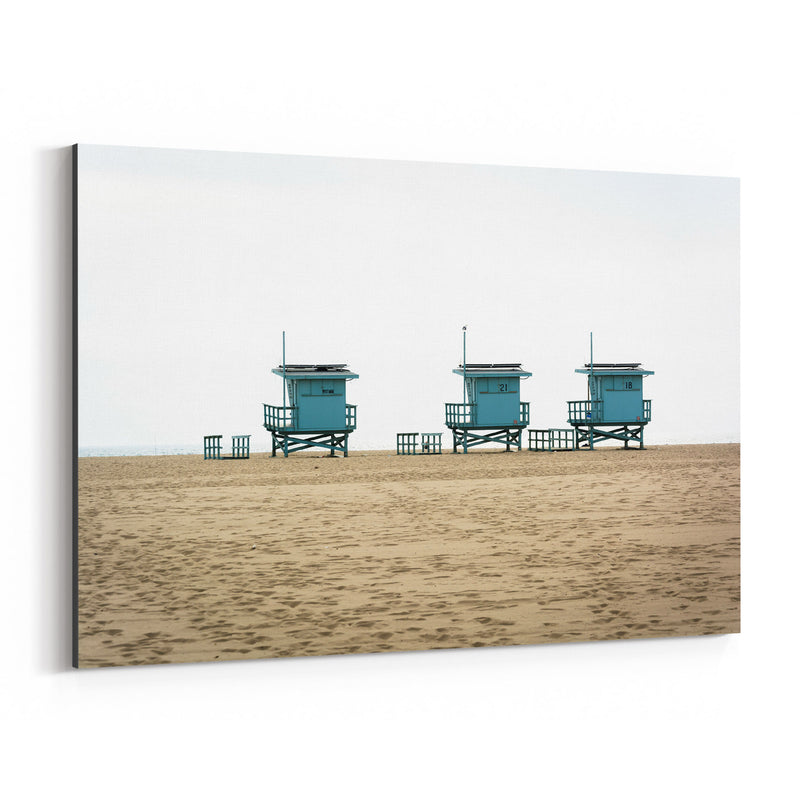 Venice Beach Lifeguard Stands Canvas Art Print