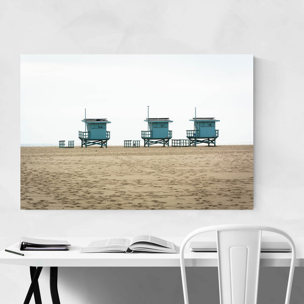 Venice Beach Lifeguard Stands Art Print