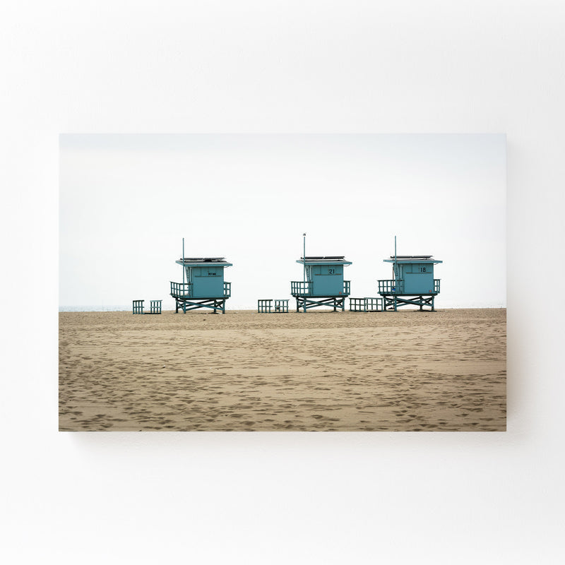 Venice Beach Lifeguard Stands Mounted Art Print