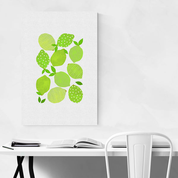 Cute Lime Kitchen Fruit Food Art Print