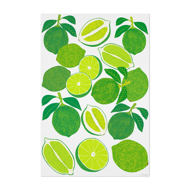 Lime Fruit Food Kitchen Art Print