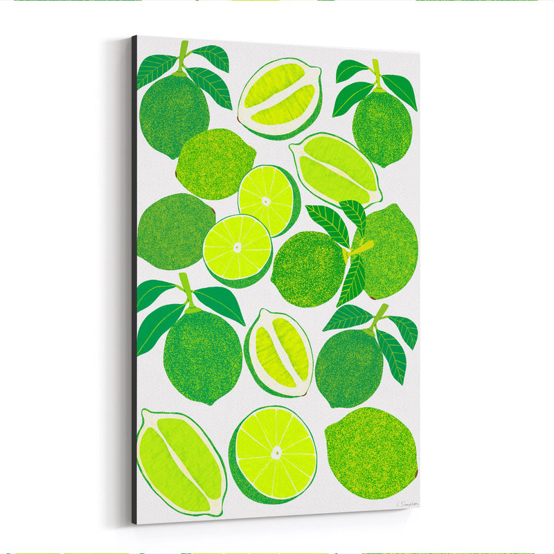 Lime Fruit Food Kitchen Canvas Art Print