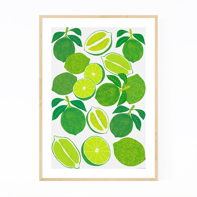 Lime Fruit Food Kitchen Framed Art Print
