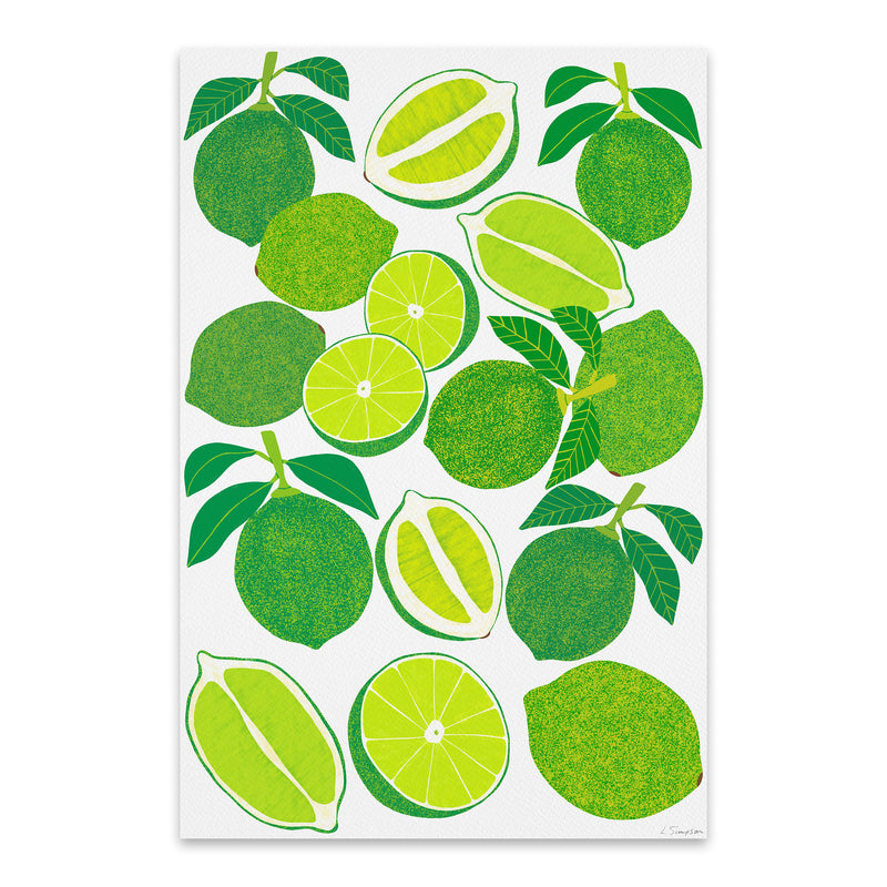 Lime Fruit Food Kitchen Metal Art Print