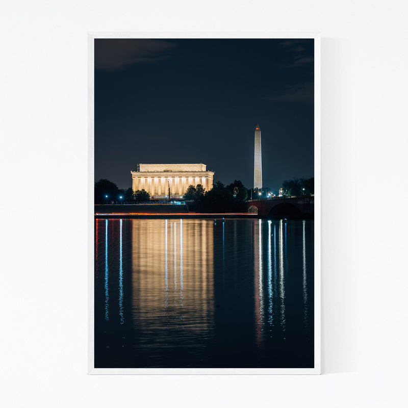 Washington DC Lincoln Memorial Framed Art Print