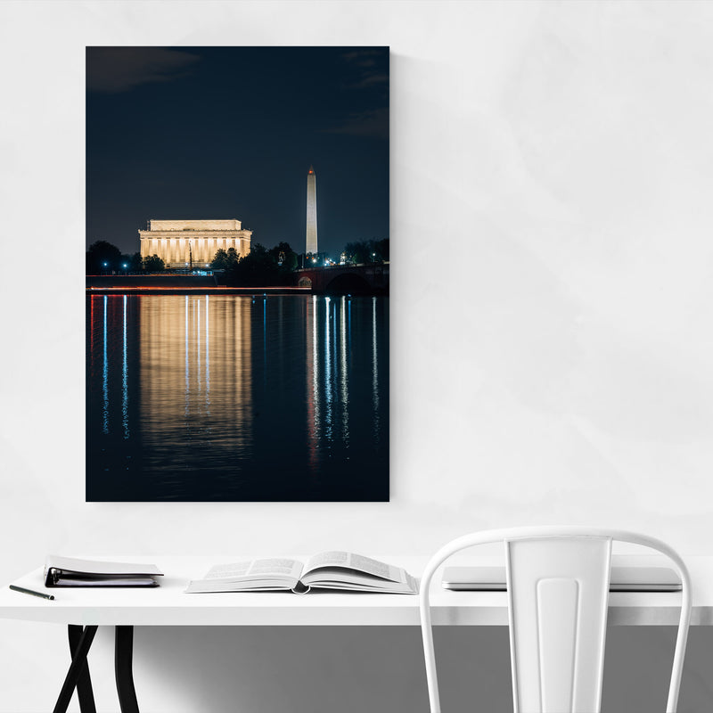 Washington DC Lincoln Memorial Metal Art Print