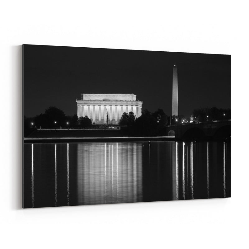 Washington Monument DC Potomac Canvas Art Print