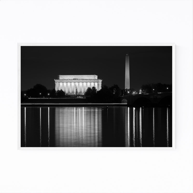 Washington Monument DC Potomac Framed Art Print