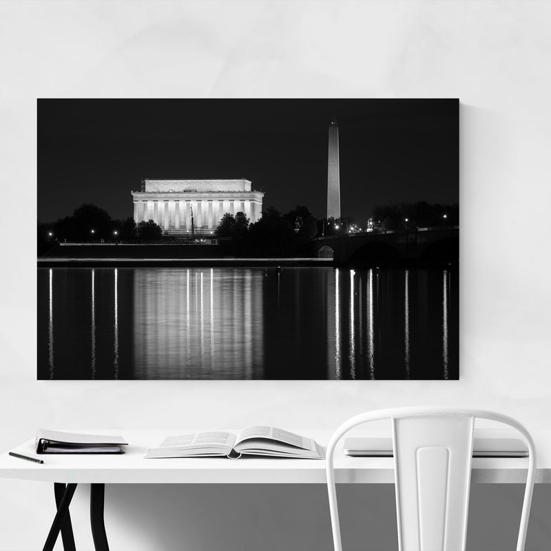 Washington Monument DC Potomac Metal Art Print