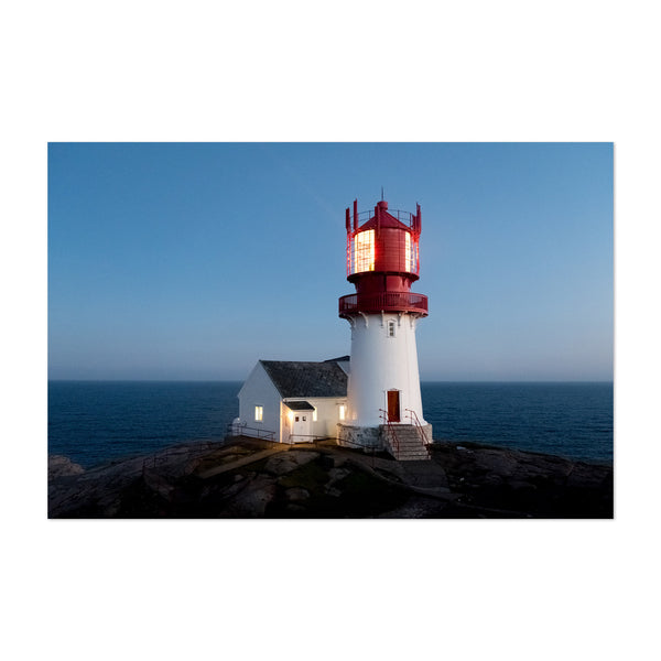 Lindesnes Lighthouse Norway Art Print