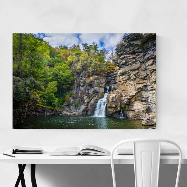 Linville Falls, North Carolina Art Print