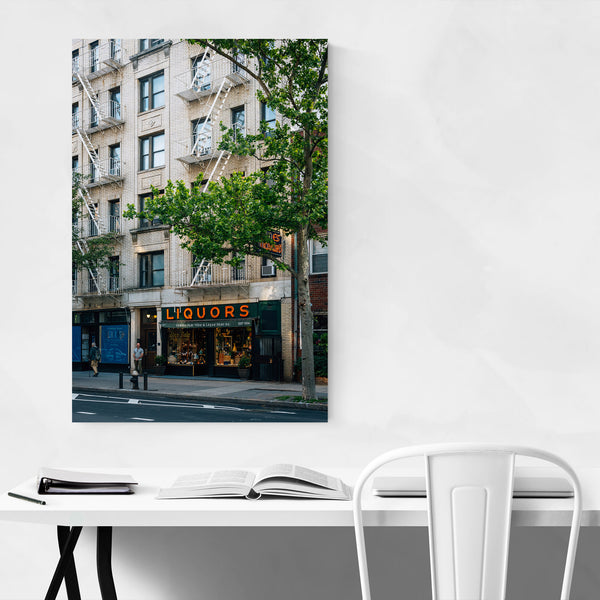Liquor Store Sign New York City Art Print
