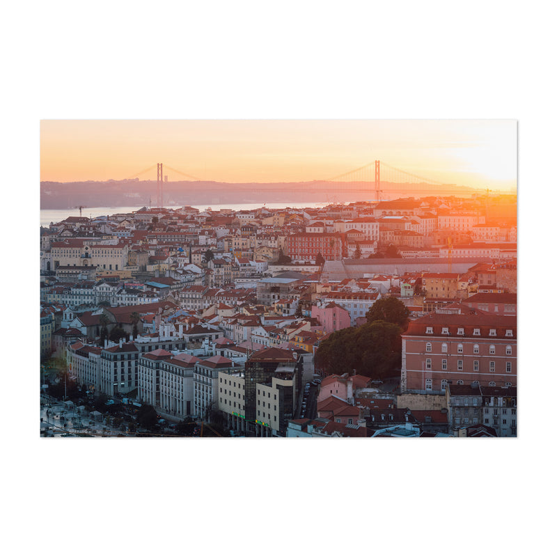 Sunset View Lisbon Portugal Art Print