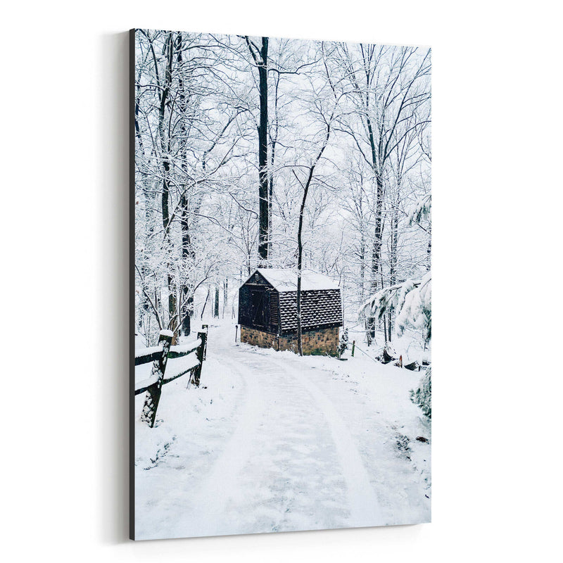 Barn Snow Winter Pennsylvania Canvas Art Print