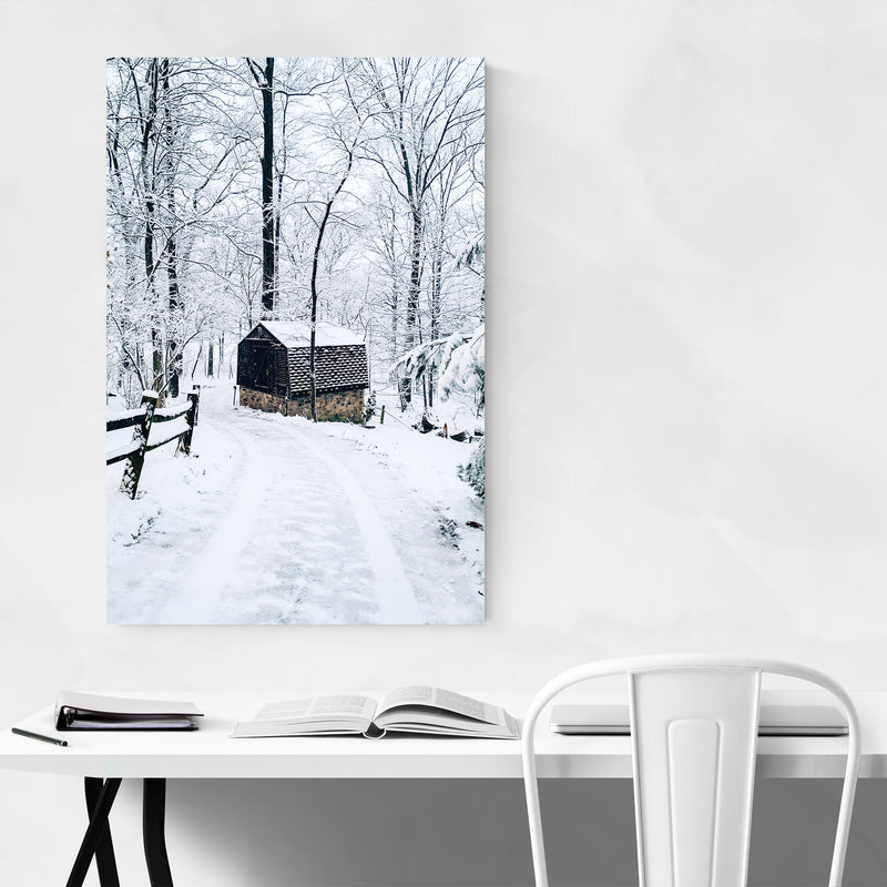 Barn Snow Winter Pennsylvania Metal Art Print