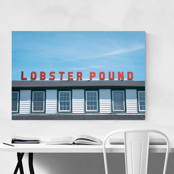 Lobster Pound Sign Maine Coast Art Print