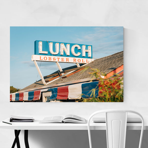 Lobster Roll Sign Montauk NY Art Print