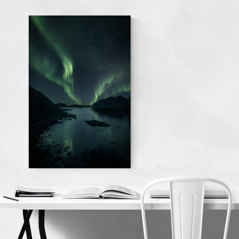 Northern Lights Norway Fjord Canvas Art Print