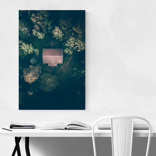 House in Forest Sweden Nature Art Print