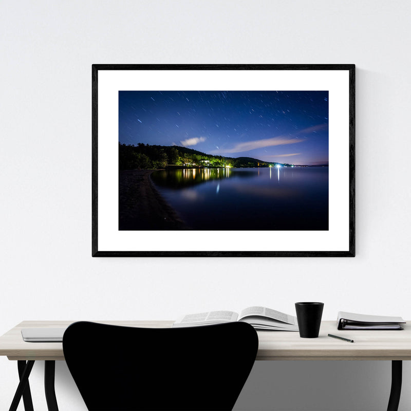 New Hampshire Lake Winnipesaukee Framed Art Print