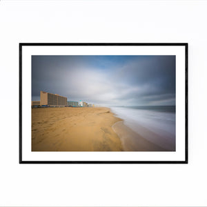 Coastal Virginia Beach Ocean Framed Art Print