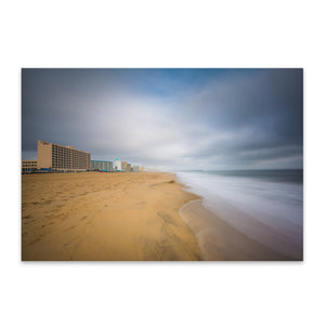 Coastal Virginia Beach Ocean Metal Art Print