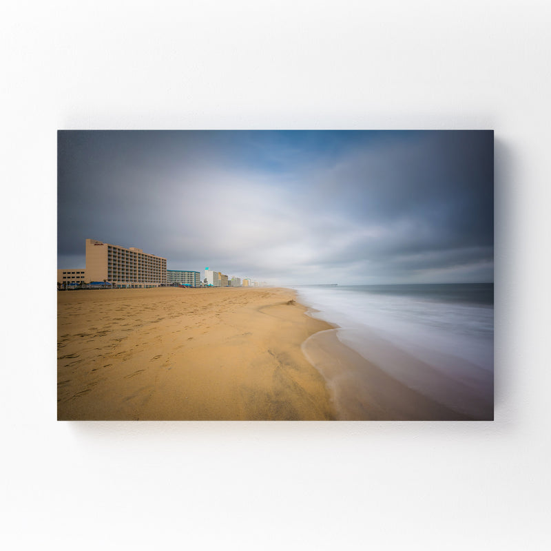 Coastal Virginia Beach Ocean Canvas Art Print