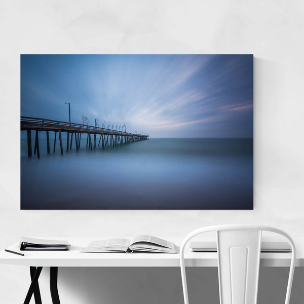 Virginia Beach Fishing Pier Art Print