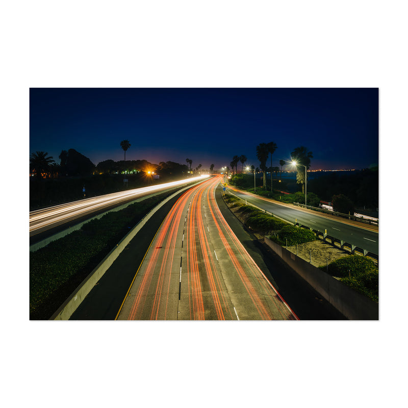 Highway at Night Art Print