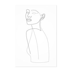 Fashion Feminine Line Drawing Art Print