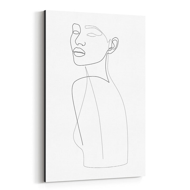 Fashion Feminine Line Drawing Canvas Art Print