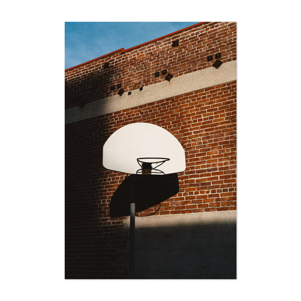 Hip Basketball Hoop Brick Urban Art Print
