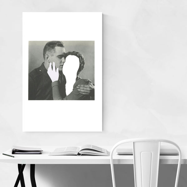 Vintage Man Woman Love Abstract Art Print