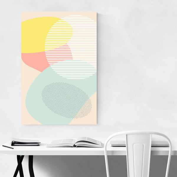 Pastel Abstract Organic Shapes Art Print