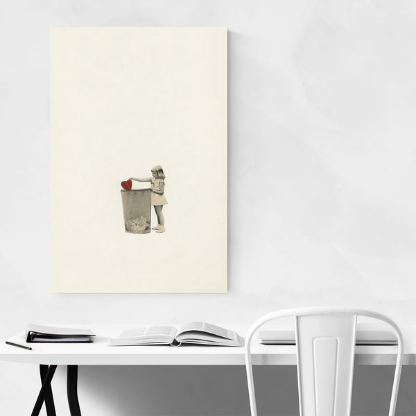 Vintage Girl Love Nursery Art Print