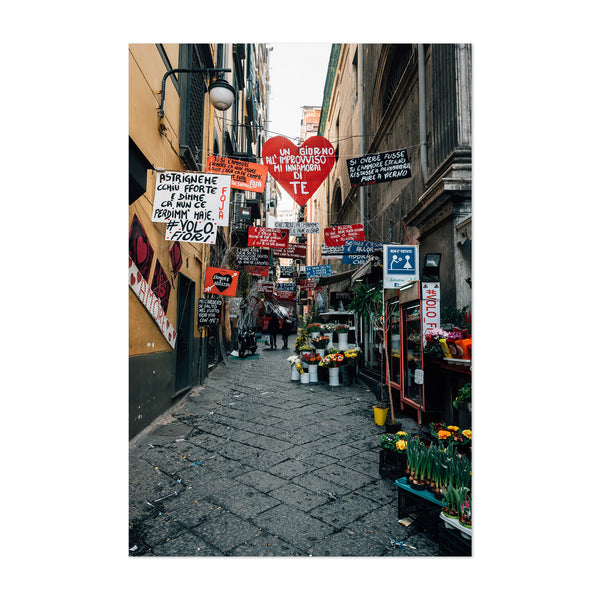 Naples Italy Love Signs Street Art Print