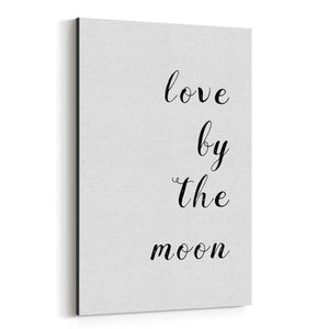 Astronomy Space Quote Typography Canvas Art Print