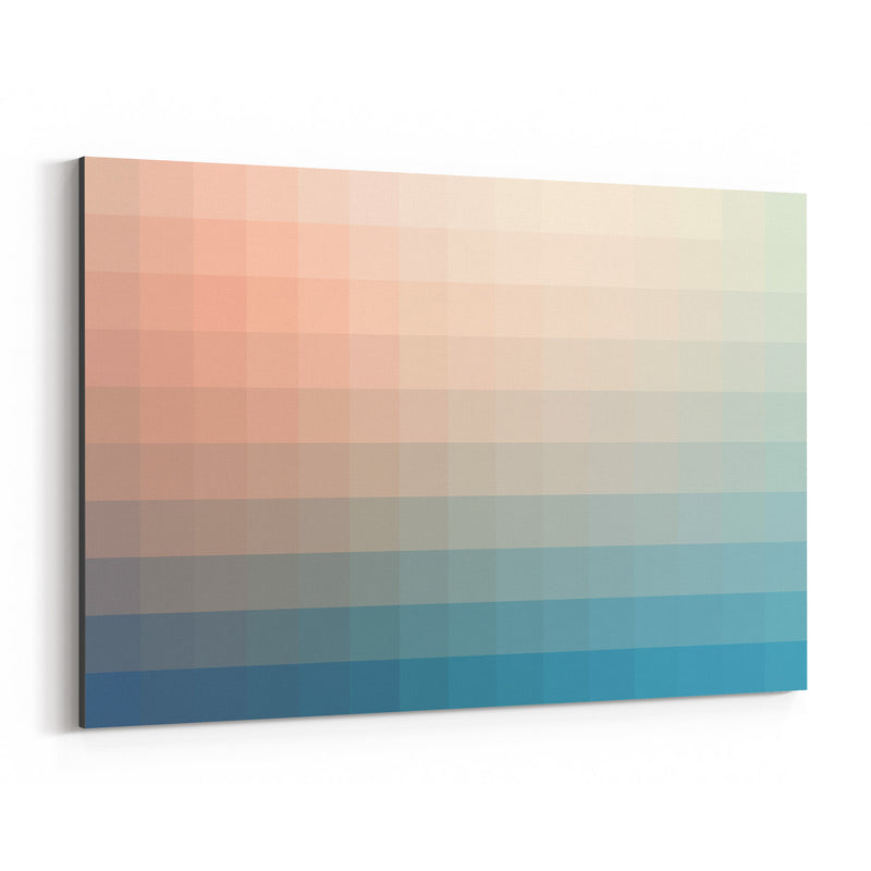 Minimalist Abstract Modern 8-Bit Canvas Art Print
