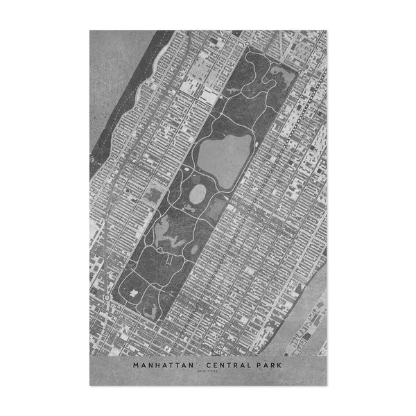 Manhattan New York City Map Art Print