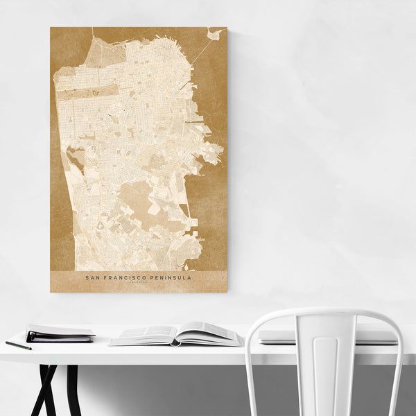 Minimal San Francisco City Map Art Print