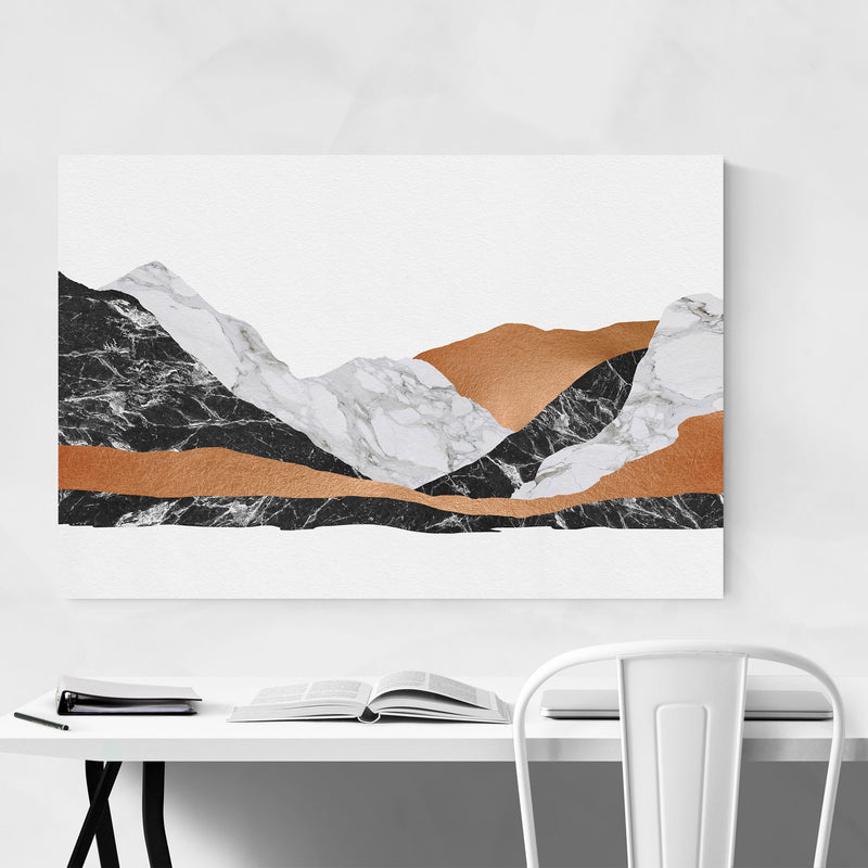 Abstract Marble Mountain Nature Canvas Art Print