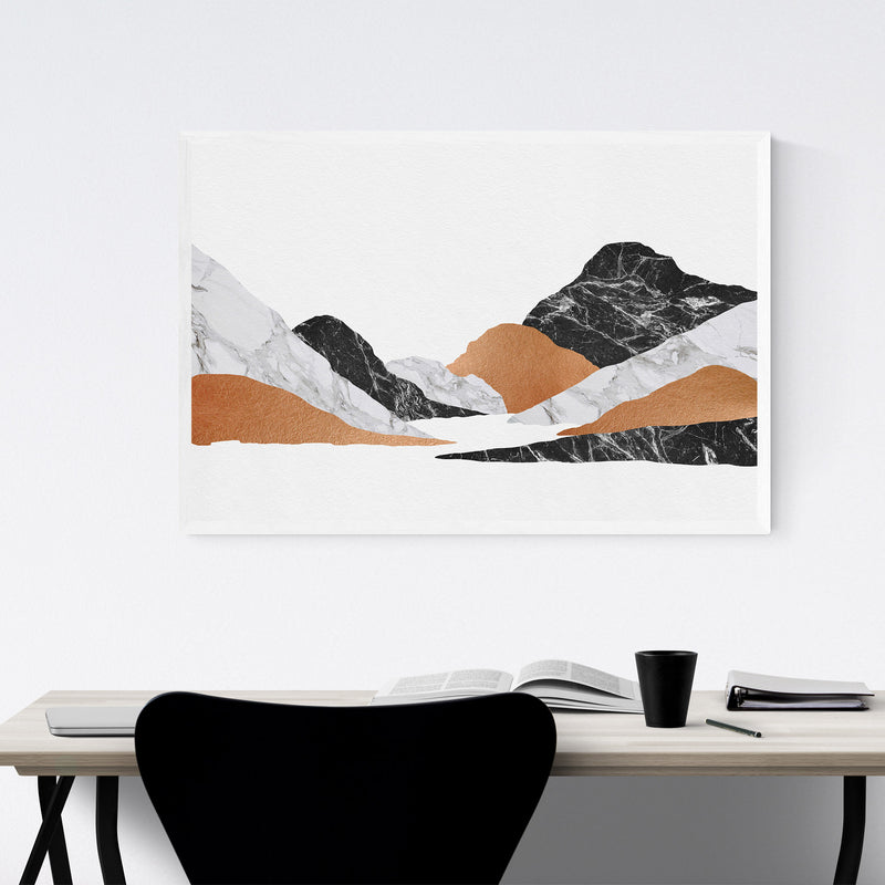 Abstract Marble Mountain Nature Framed Art Print