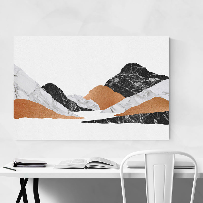 Abstract Marble Mountain Nature Metal Art Print